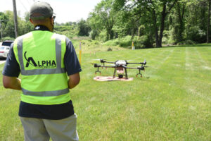 Working with a drone