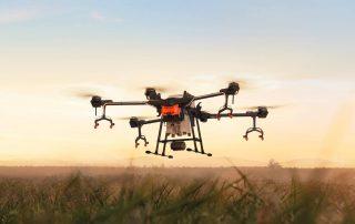 t16 drone on sunset horizon
