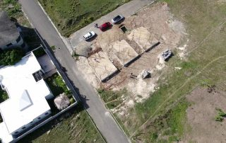drone industrial check for damages on worksite