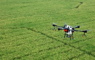 t16 drone over crops