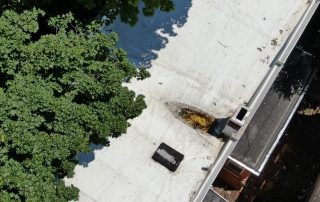 drone industrial check for damages on roof