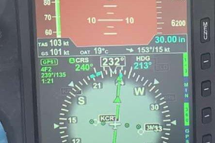 Aspen Avionics screen